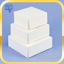 Cheap different sizes custom eco-friendly/ food grade foldable card paper cake packaging box