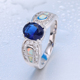 China manufacture crazy opal sapphire stone jewelry set men ring opal jewelry customized