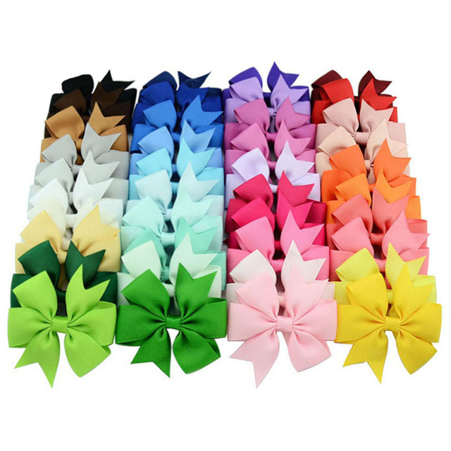 2017122621 Faithidmarket 40Piece Boutique Grosgrain Ribbon Pinwheel Hair Bows Alligator Clips For Babies Toddlers Teens Gifts In