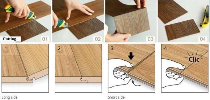 Click Lock Vinyl Plank Spc Flooring Factory From Hanshan