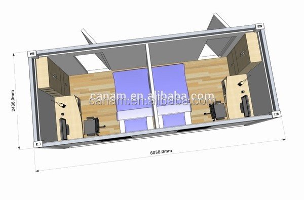 CANAM-convenient prefab modern house plan drawing