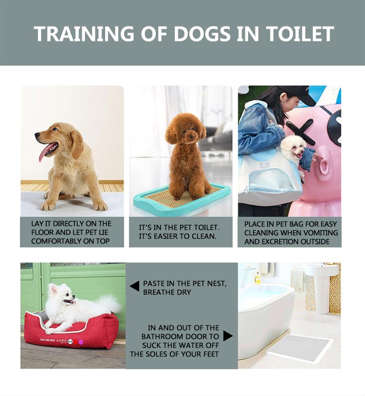 Non-tissé absorbant d'urine jetable lavable chiot coussinets de formation pour animaux de compagnie pour chiens