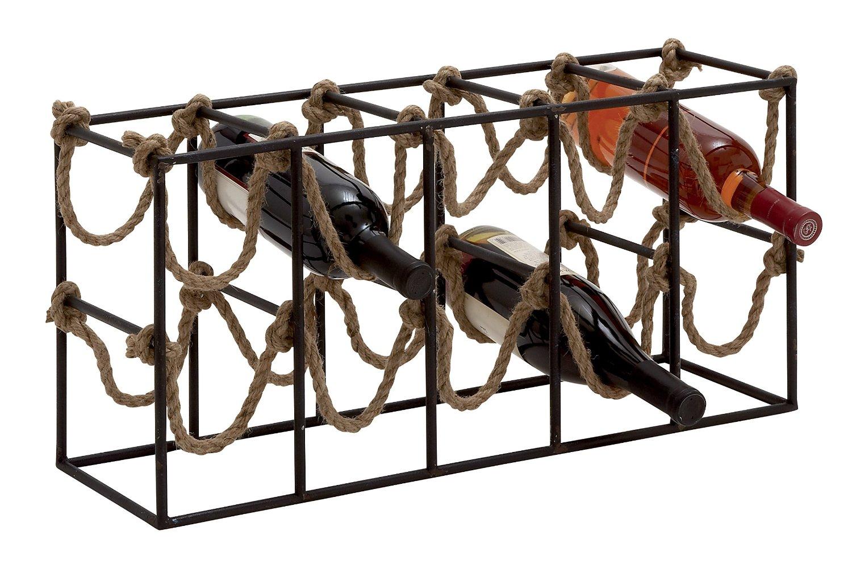 Plutus Brands Exquisite and Uniquely Designed Metal Rope Wine Rack