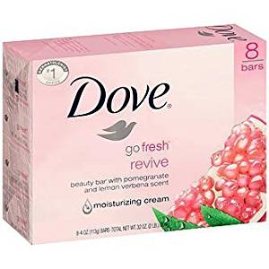 Dove Go Fresh Revive With Pomegranate & Lemon Verbena Scent Soap (Set Of 3) 135 Gx3