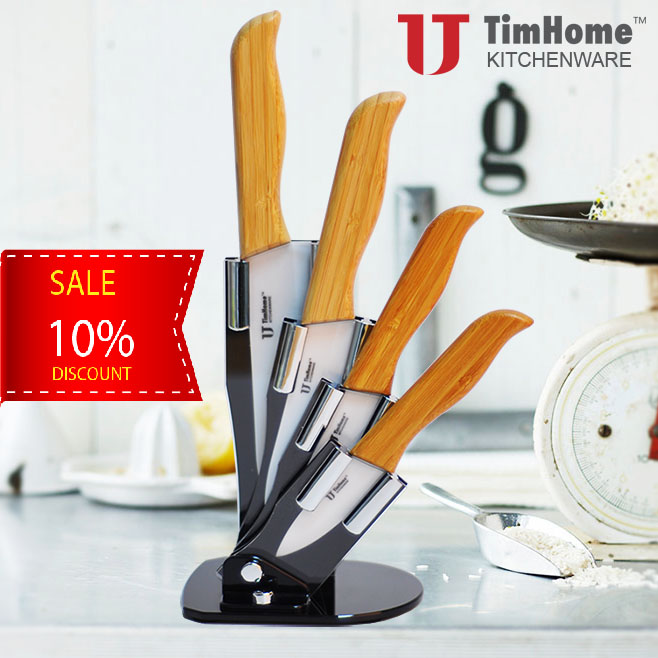 bamboo handle ceramic kitchen knife 2017 new arrival