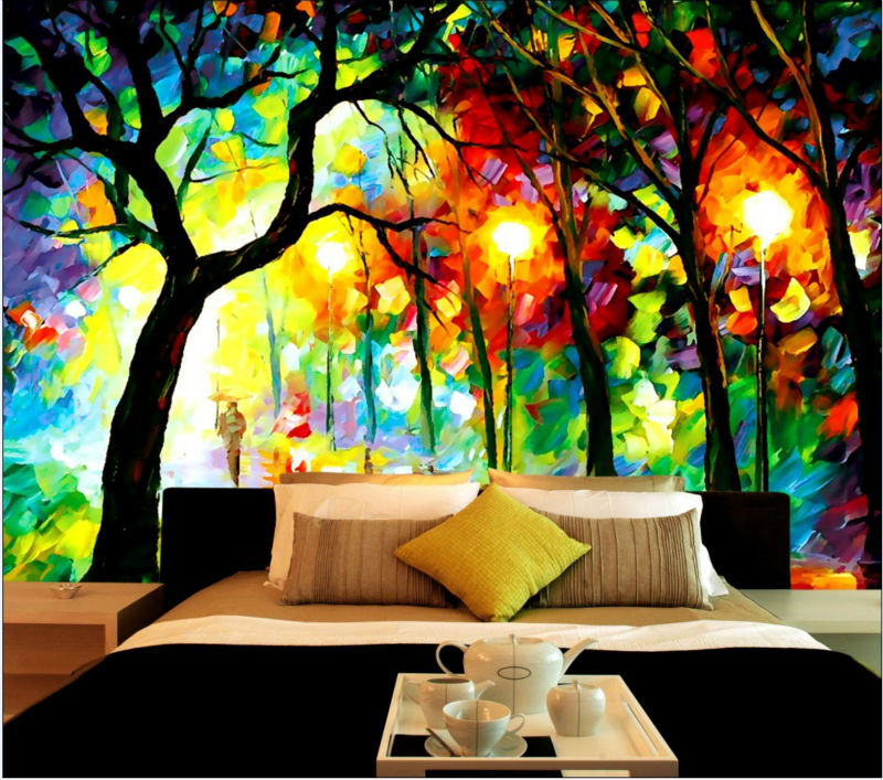 Abstracto Decorativo De La Ciudad De Noche Pintura Diseño