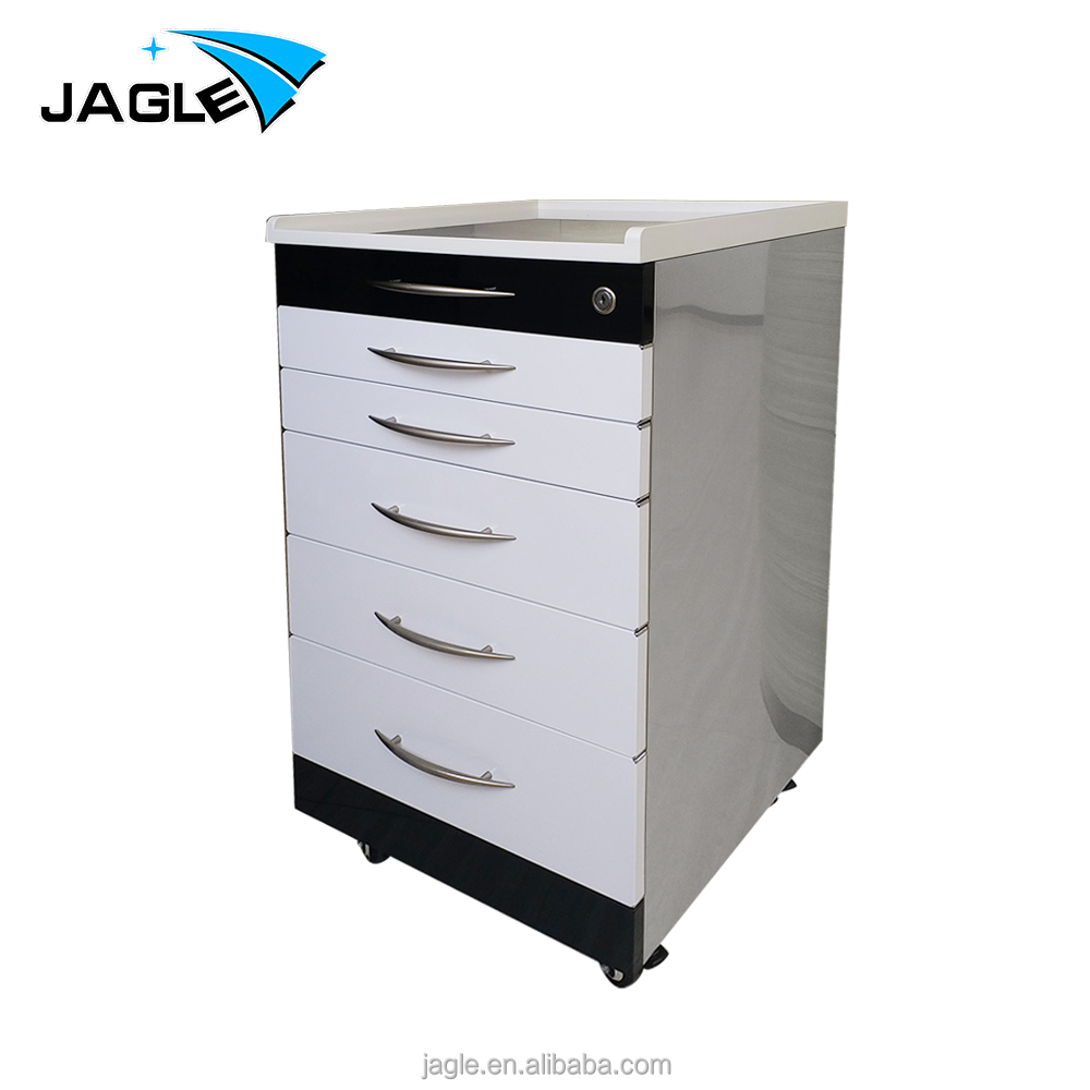Mobile Hospital Cabinet Mobile Medical Trolley With Trays Customized