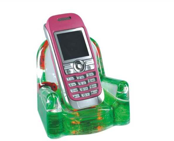 desktop cell phone holders with liquid and customized floating
