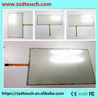 17 inch 4 wire resistive touch screen panel kit,glass panel for ATM /Ticket machine