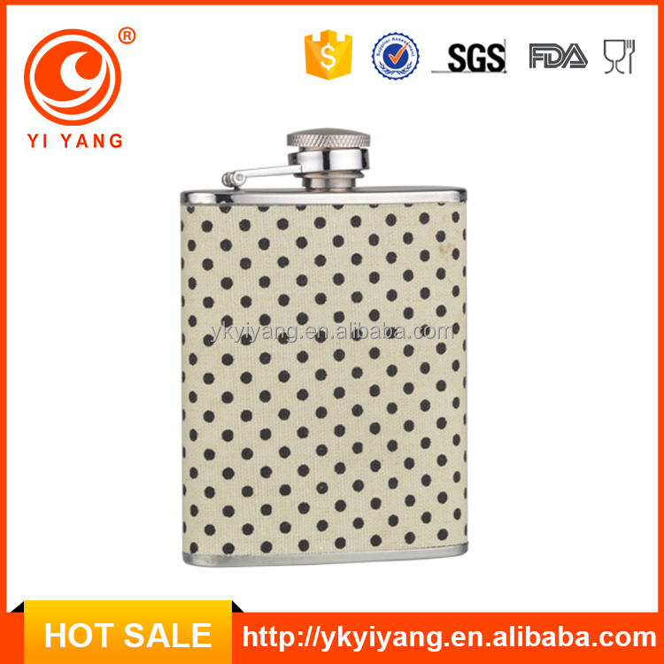 FDA TEST innovation giftware 3oz hip flask,leather flask