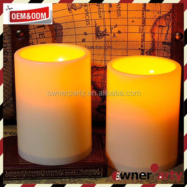 Remote Control Flameless Led Candles Pillar