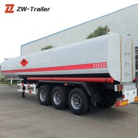 Factory price 4000 liters 3 axle Oil Tank Trailer /Oil Tanker Truck For Sale
