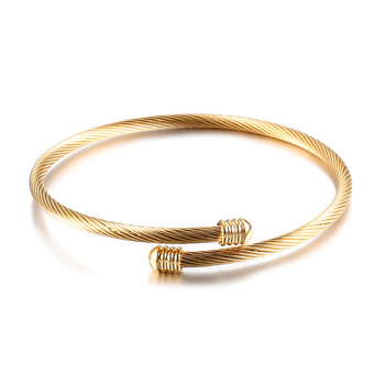 Expandable Cable Wire Bracelet Stainless Steel Twisted Cuff Bangle For Women Bracelets Gold Bangles Latest Designs