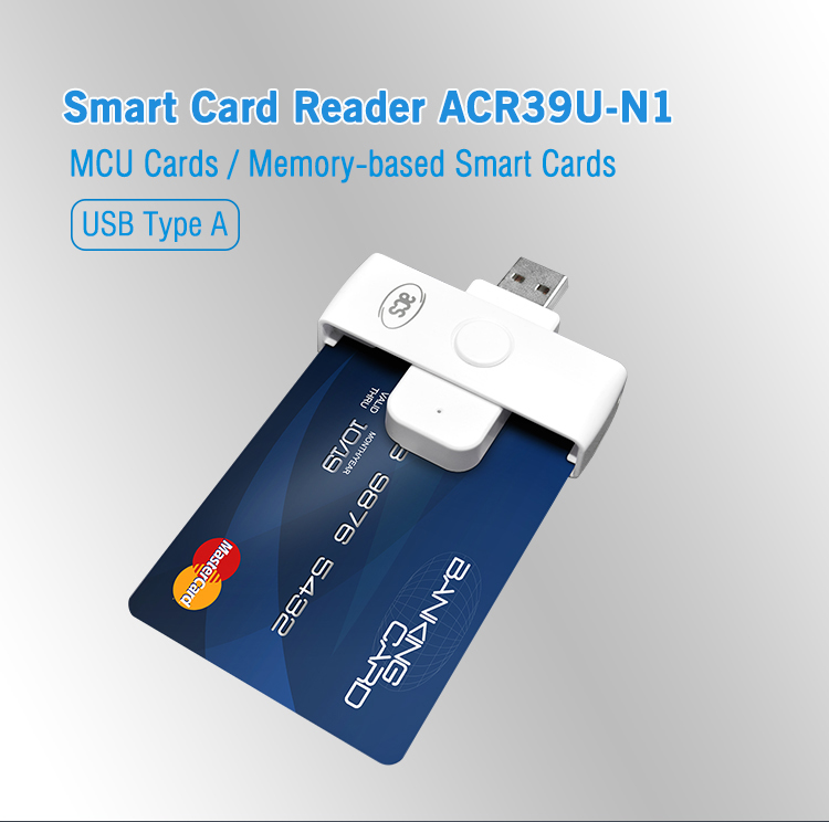 Mini EMV Chip Contact USB Portable ISO 7816 Smart IC Card Reader ACR39U-N1