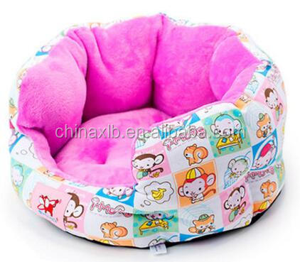 Outdoor Water-proof Anti-slip Round 100% Cotton Canvas Pet Dog Bed without padding
