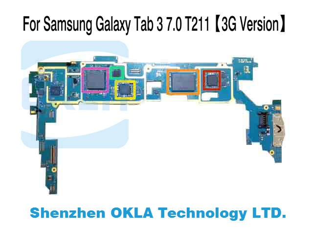 1pcs For Samsung Galaxy Tab 3 7 0 T210 T211 T215 1G RAM 8G ROM Mainboard  Motherboard Logic Board Replacement from original phone