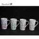 Wholesale custom logo printing porcelain tea cup fine bone china mugs 11oz sublimation coffee glass travel mug