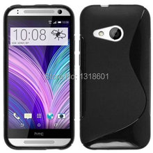 Free Shipping TPU Soft Silicone S Line Phone Case Cover For HTC ONE 2 MINI M8 MINI