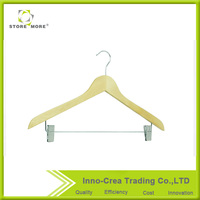 Wood Suit Hangers With Clips