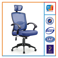 High quality big mesh office chair with headrest
