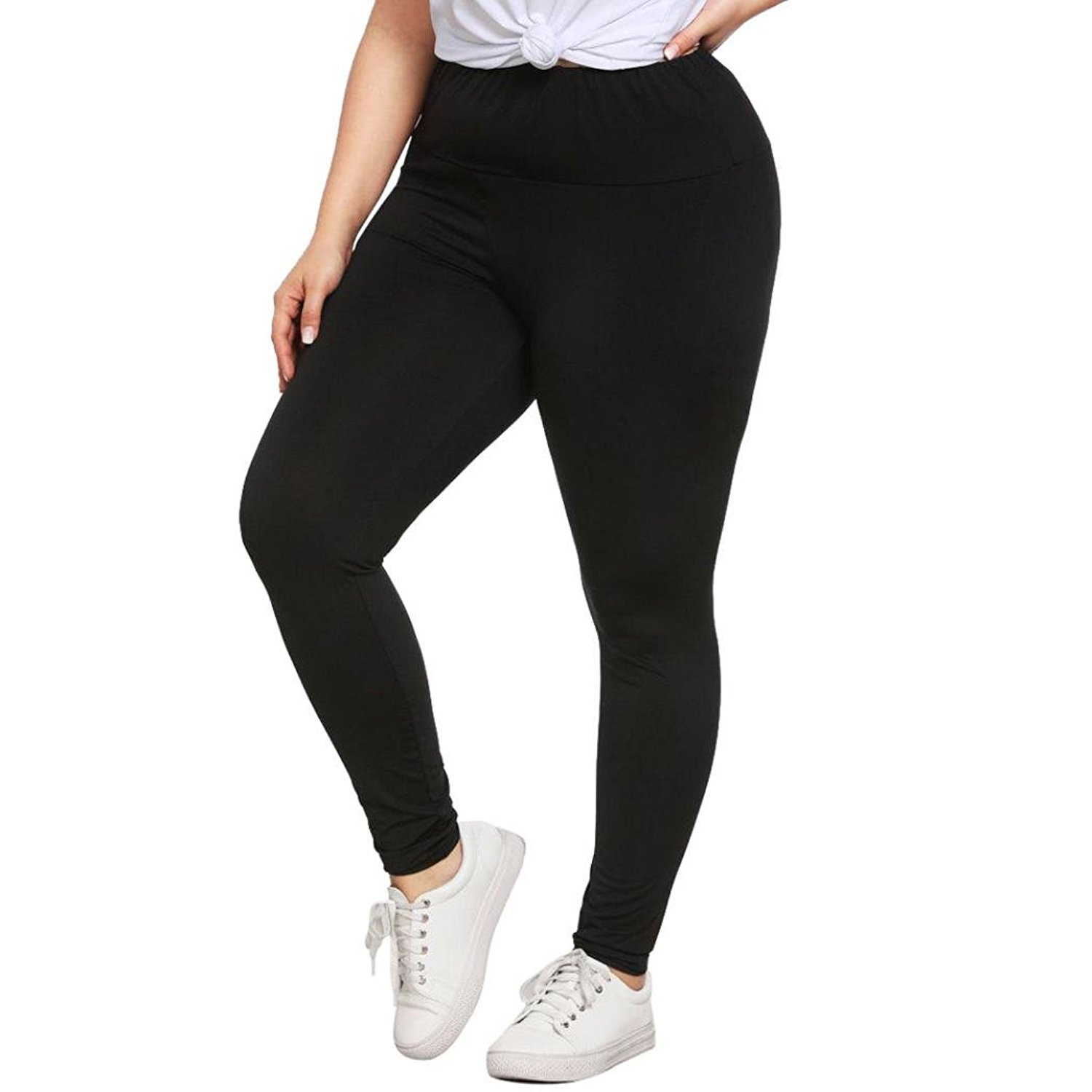 5a8e8051f2 Get Quotations · Yoga Leggings Plus Size,Women High Waist Running Leggings  Stretch Yoga Leggings Power Flex Pants