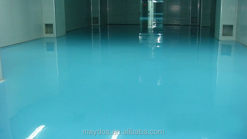 Maydos China Top 5 --- Dust Free Self-leveling Epoxy Floor Paint Colors 2mm Thickness 3 steps easy application
