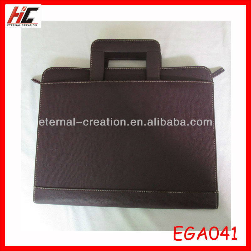hot sell leather vintage meeting briefcase mens