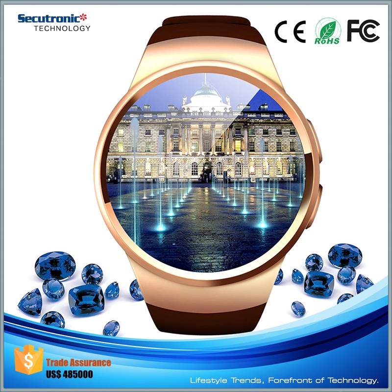 2016 New Arriving Cool Gadgets Bluetooth Smart Watch for Windows with IPS Round Touch Screen and Heart Rate Monitor
