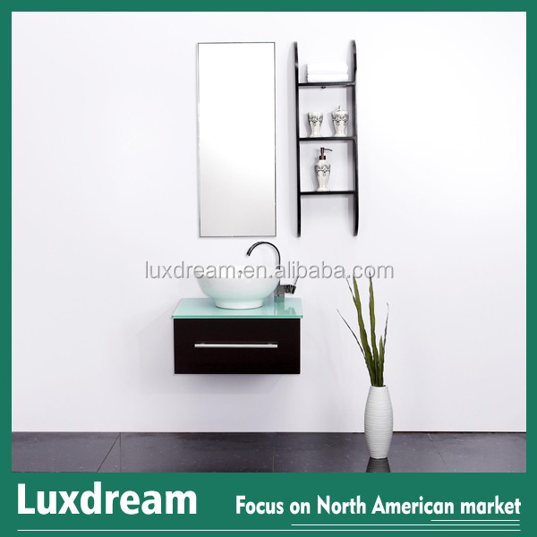 Drawer soft closing hardware white ceramic sink countertop and - European Design Mini Wall Hung Bathroom Furniture Buy