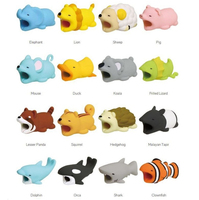 2019 Hot sale Animal shaped bite cable protector Factory supplier Shark Squirrel Various of shapes
