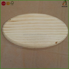 Wholesale Customized Shape Oval Pine Wooden Base Stand Plaque