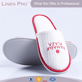 859b01d414fe Hotel Collection White Closed Toe Waffle Weave Spa Slippers - Buy ...