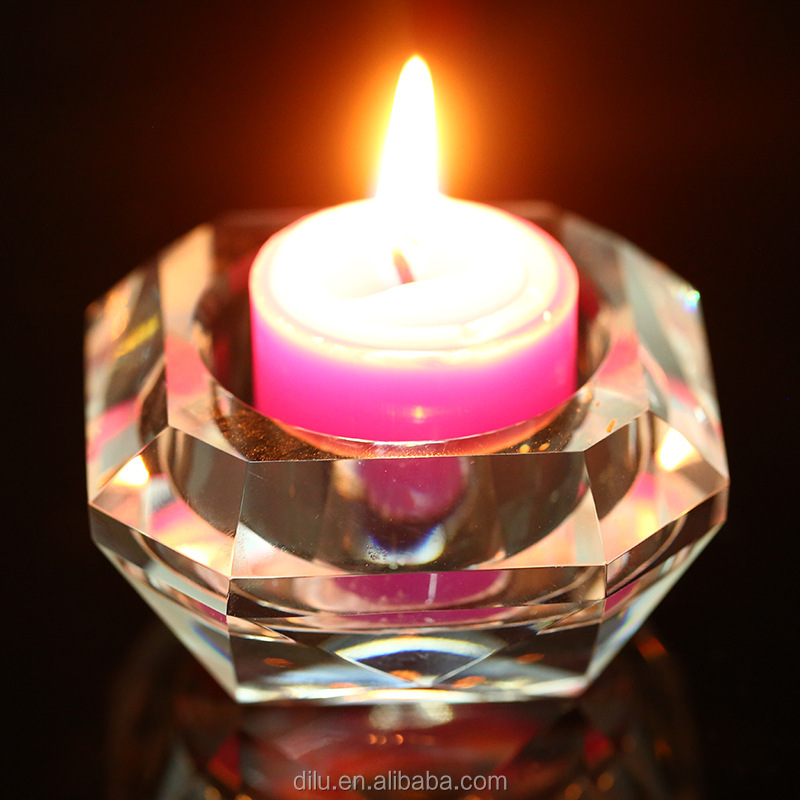 Dilu brand Crystal Candlestick gift for Home Decoration For Wedding Decoration