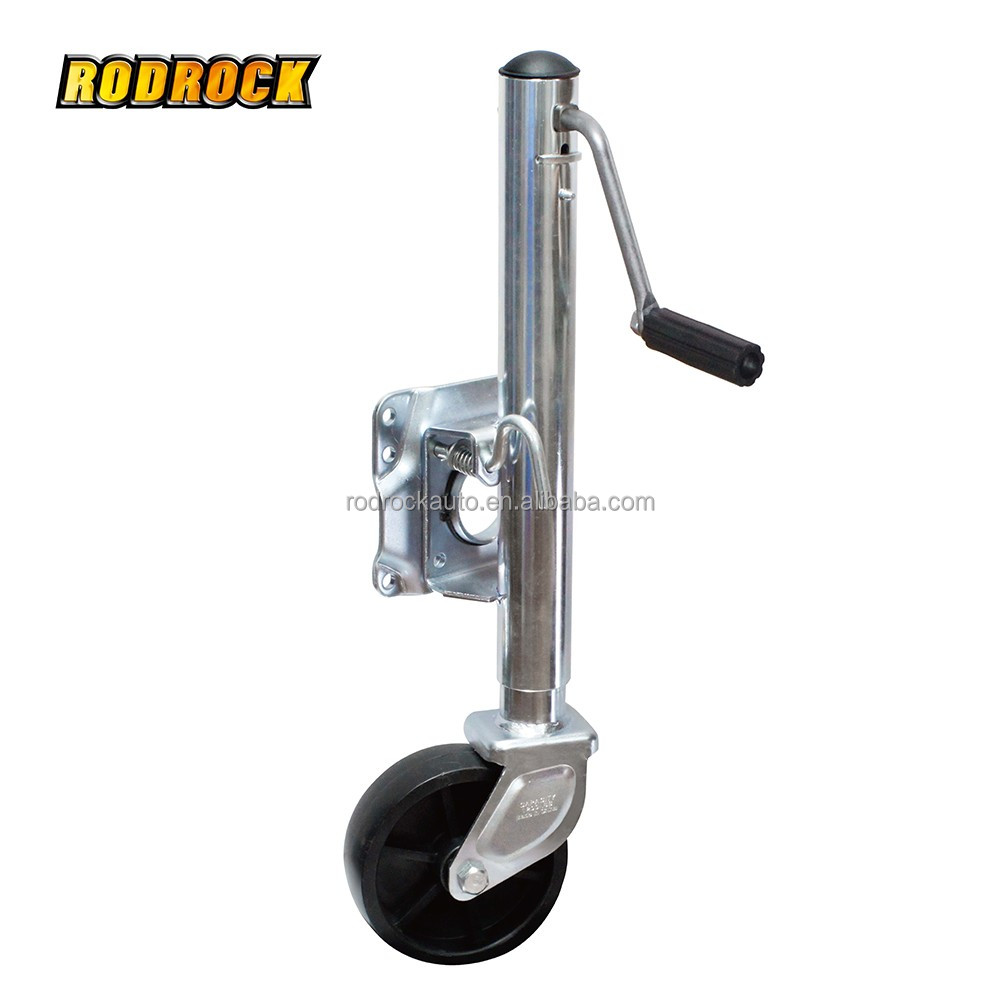 1000lbs Bolt-on Swing Away Boat Jack Marine Trailer Jack w/ Swivel Wheel