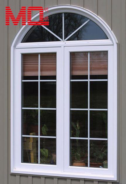 Pvc finestra ad arco contengono vetro temperato finestra di progettazione griglia vetrino id - Griglia regolabile protezione finestre ...