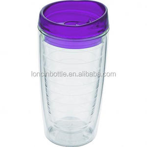 16oz Acrylic Ice Tumbler,Double Wall Plastic Wine Tumbler,glass Wine Sippy Cup