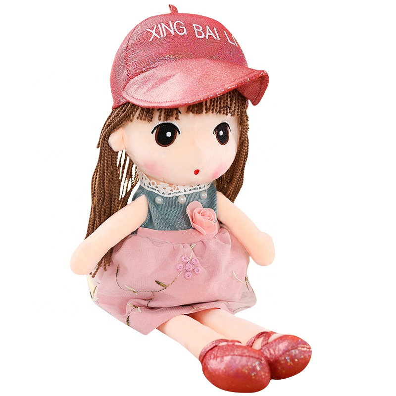 2019 Brand New fashion custom love plush stuffed young girl <strong>doll</strong>
