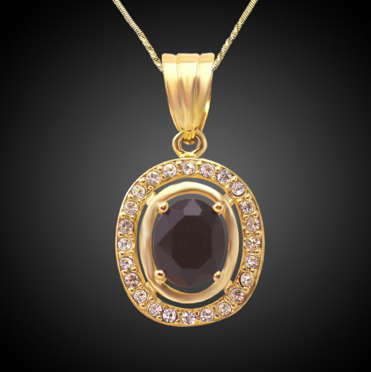 Athenaa Big Stone Design Dubai Gold Pendant Fancy Pendant Designs ...