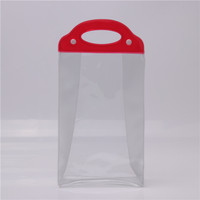 Hot selling portable clear PVC plastic bag for packaging