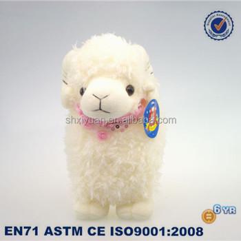 Farm Animal Toy Goat Plush Toy Cute Stuffed Goat Toy With Scarf