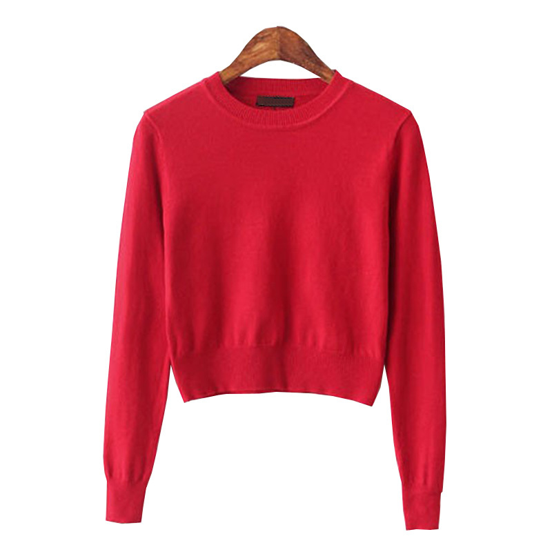 d88a3551382 Get Quotations · Crop Top Sweater 2015 Fashion Women Knitted Oversized Pink  Sweaters Korean Kawaii Cute Short Female Pullovers