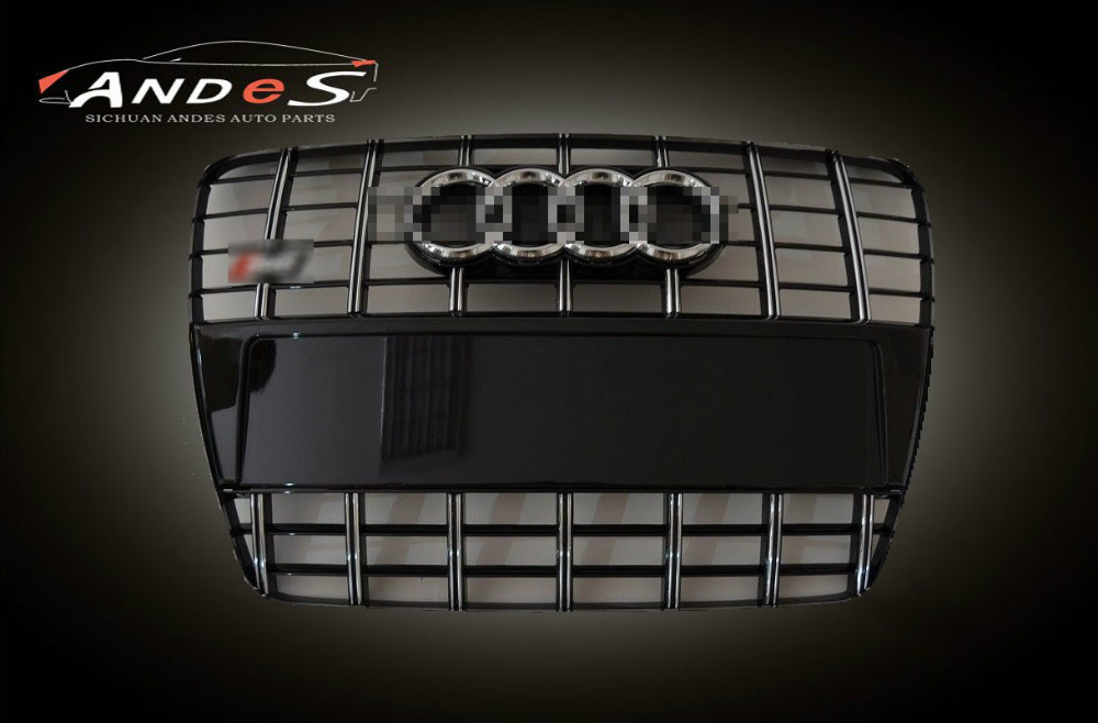 Front Grille For Audi 2013 RS6 Silver Galvanized Grill