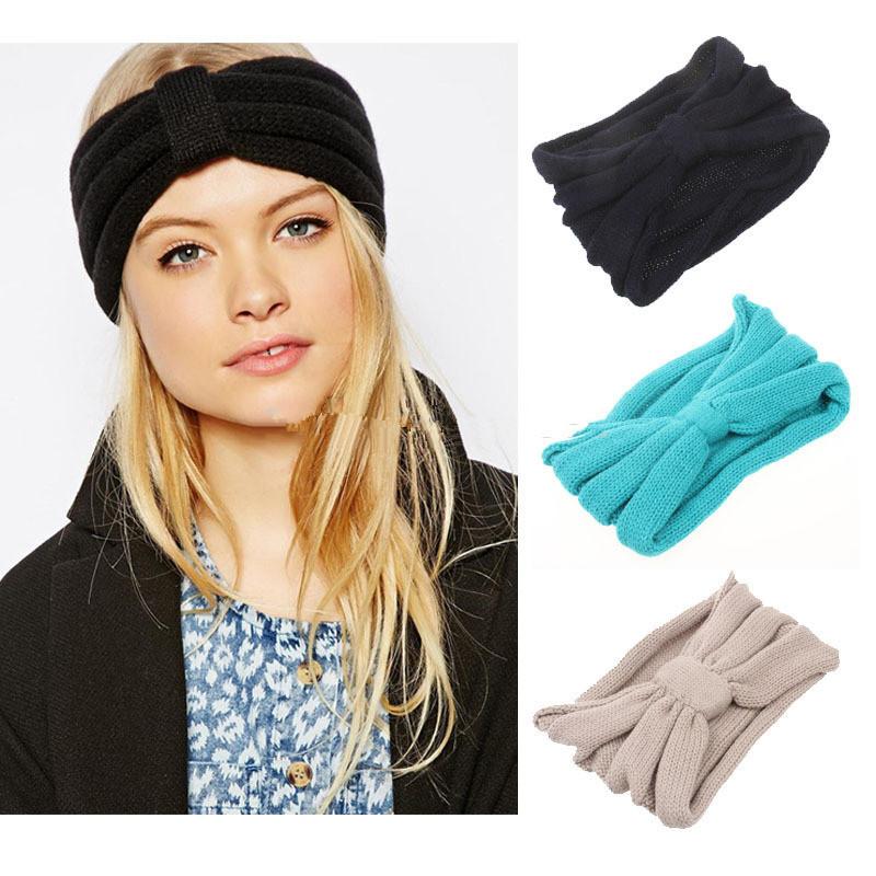 uncinetto custom in maglia fatta a mano inverno più caldo orecchio fascia  turbante fascia 9a8c5d1b0346