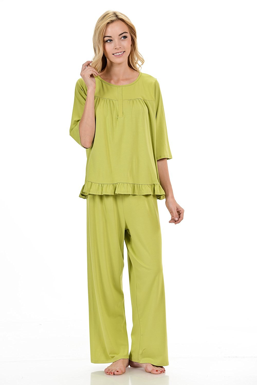 c84d046133 Get Quotations · Bamboosa Women s Nightgown Set 67% Viscose From Organic  Bamboo   28% Organic Cotton 5
