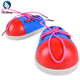 kids child baby boy girl children Safety intelligent educational wooden toys Toddler Lacing Shoes Montessori puzzle game toy