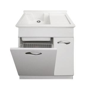 Qierao Kickboard Series Modern Laundry Sink Cabinet Combo Pvc Gbl Ld02