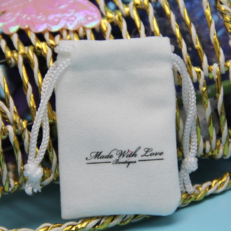 China Factory Wholesale Vel;vet Small Fabric Drawstring Bags