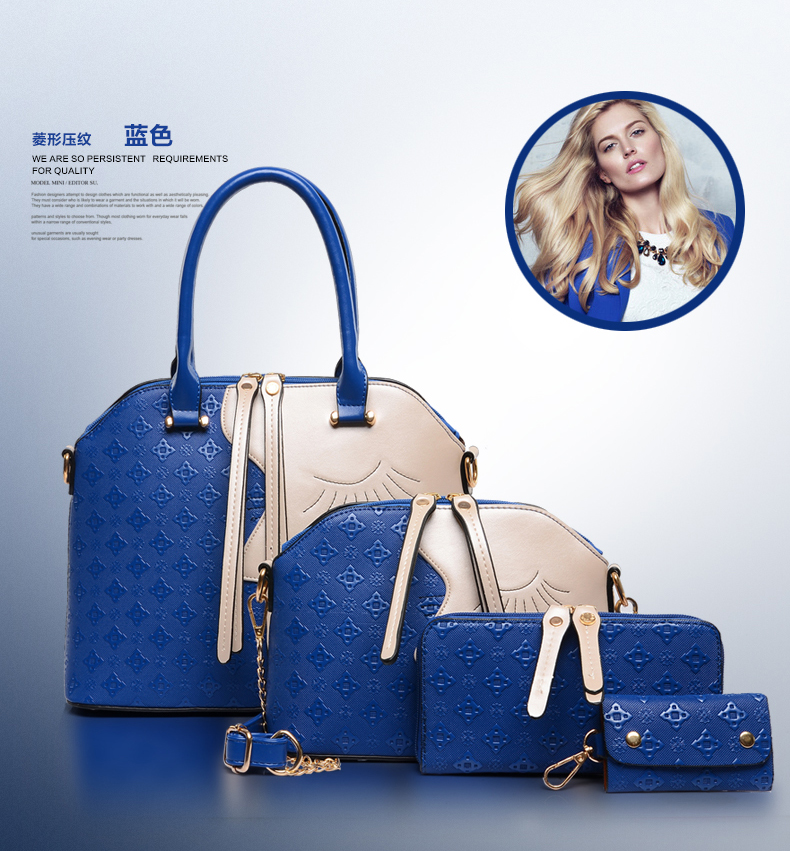 e23c9b990d 2018 wholesale online shopping new products 3-7 pcs in 1 set pu leather  women tote ladies handbags bag