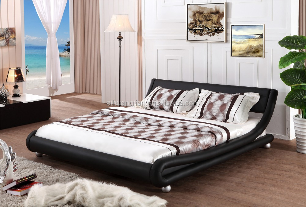 cheap bed frame curve shape king size leather bed frame double size bed frame