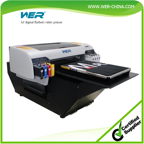 A2 Flatbed T-shirt Printer 8 Color Printing With White Ink ...